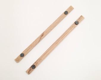 Vintage Inspired Oak Wood Magnet Frames - Small