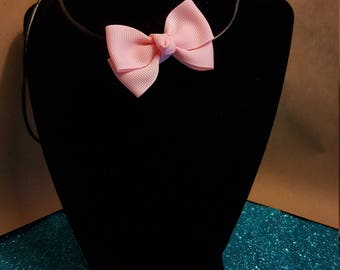 Pink Bow Choker/Necklace