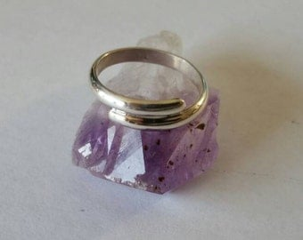 Handcrafted Sterling Silver Band Ring Size 10