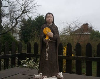 Statue of Saint Claire - fired clay sculpture