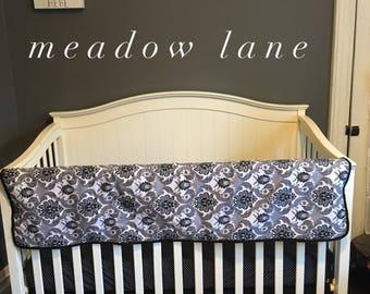 Baby, Girl, Black, White, Polka Dot, Paisley, Nursery, Crib, Bedding, Set