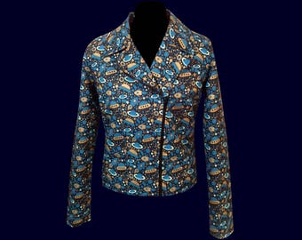Jacket cotton planets and flying saucers