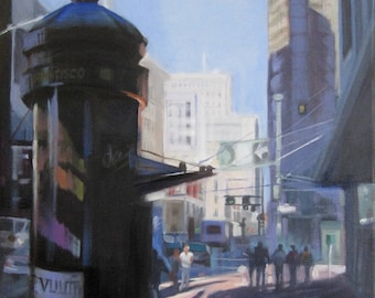 San Francisco cityscape Painting Print