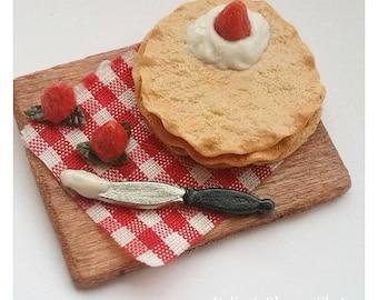 Polymer Clay Miniature Crepes Baking Scene | Mini food | Doll House Miniatures | Miniature
