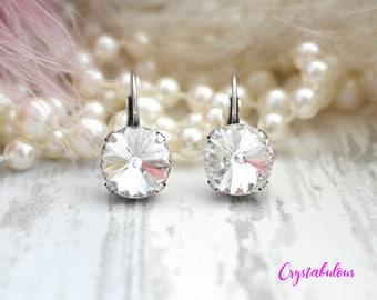 Clear Earrings, Crystal Earrings, Swarovski Earrings, Dangle Earrings, Drop Earrings, Bridal Earrings, Bridesmaid Earrings, Swarovski, White