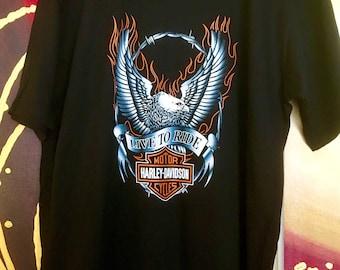 "Harley -Davison "" live to ride"" soft weave tee"