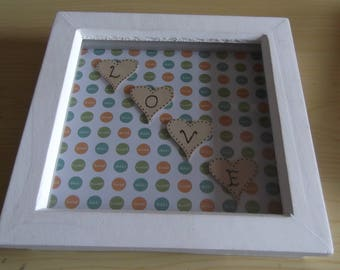 Shadow box picture frame - LOVE
