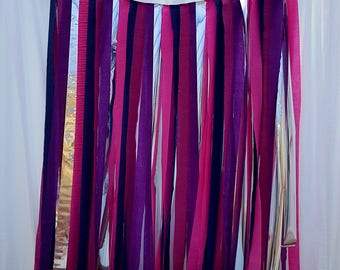 Crepe Streamer Backdrop Decoration Pink and Purple | Photo backdrop | Wedding backdrop | Garland | Foil curtain | Party decoration | Silver