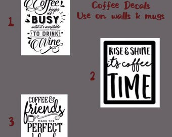 Coffee Decals/Wall Stickers/Wall Decals/Coffee