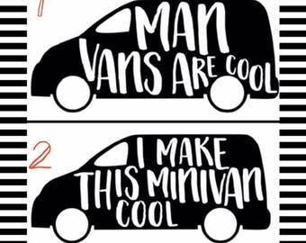 Man Van Sticker Etsy - Vehicle decals and stickers