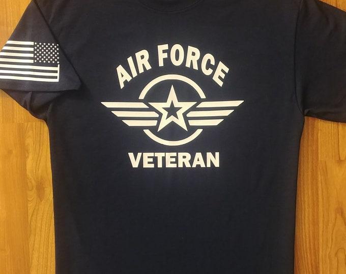 US Air Force - Air National Guard - Veteran - Shirt - Medium - Navy/White - Free Shipping