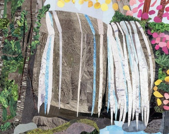 Dream Waterfall Magazine Collage