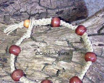 Hemp Wooden Beaded Bracelet