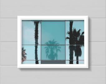 Palm Trees Printable, Palm Trees Photography, Instant Download, Digital