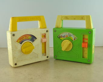 Vintage Fisher Price Portable Wind up Radios that  WORK