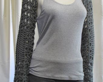 Grey Long Sleeve Shrug