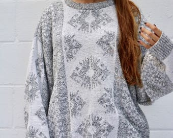 Vtg Aztec Print Sweater