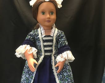 """Colonial ball gown for 18"""" doll"""