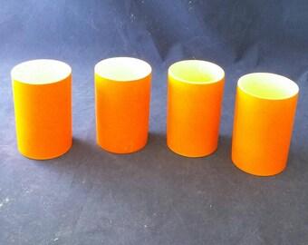 Vintage 1962 Holt Howard Juice Glasses in Orange