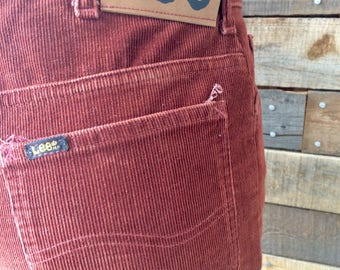 Vintage Lee Rider Corduroy Jeans in Rust, size 29 x 32