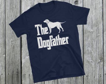 The Dogfather t-shirt, Labrador silhouette, funny dog gift, The Godfather parody, dog lover shirt, dog gift, Short-Sleeve Unisex T-Shirt