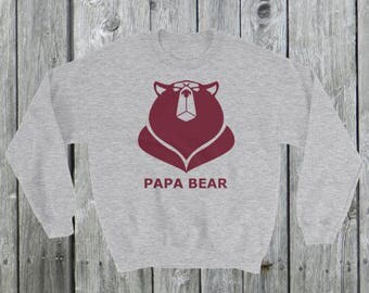 Mens Papa bear Sweatshirt, grumpy, angry, bear sweatshirt, Poppa Bear sweater for Dad, Father's Day gift, best dad gift, dad birthday gift