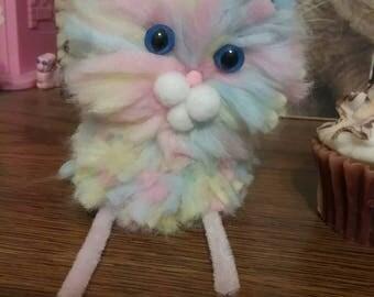 Pastel pompom kitty