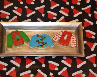 Ugly Christmas Sweater Sugar Cookies