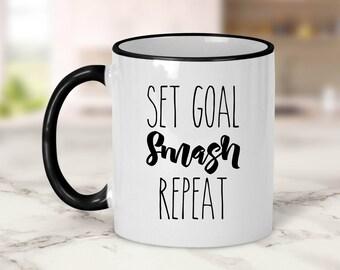 Set Goal Smash Repeat Mug