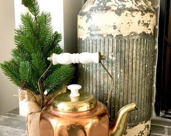 Vintage octagon copper kettle