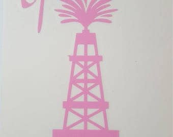 Pink Spoiled Oilfield Wife Decal