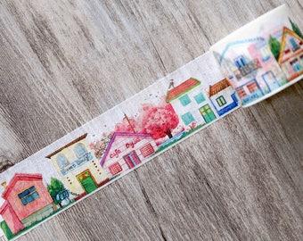 Houses Washi Tape , Neighborhood Washi Tape , Spring Home Sweet Home