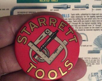 Vintage Starrett Tools Advertising Pocket Mirror