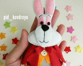 Rabbit from Alice in Wonderland Felt Toy