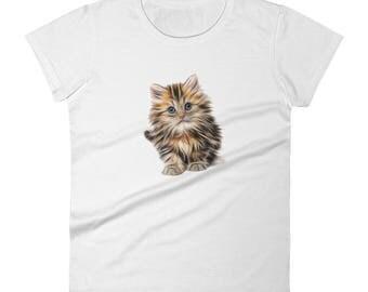 Funny Cat Lover T Shirt - Women's short sleeve Tee
