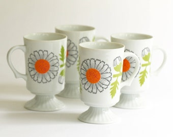Coffee Cups 1970s - Set of 4