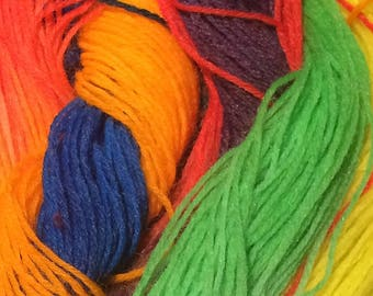 Hand dyed yarn #Pride