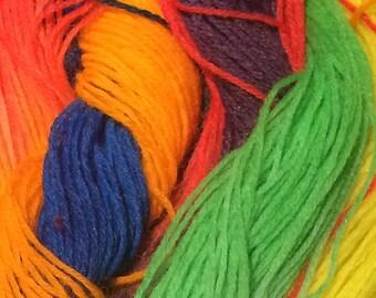 Hand dyed yarn #Pride
