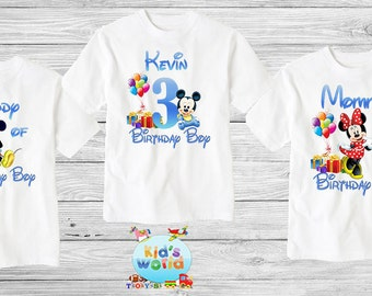 Mickey Mouse birthday shirt,Custom shirt ,personalized Mickey Mouse Shirt, family shirt,birthday shirt,kids custom birthday shirt d20