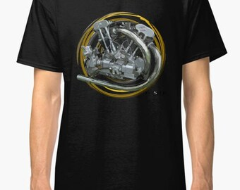 Brough Superior 998cc JTOS J.A.P1934 inspired  Motorcycle engine TShirt INISHED