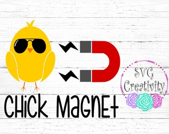 Chick Magnet SVG, Easter Chick Magnet SVG, Easter Chick SVG