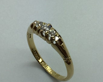 18ct Yellow Gold 5 x Diamond Ring - 0.30ct