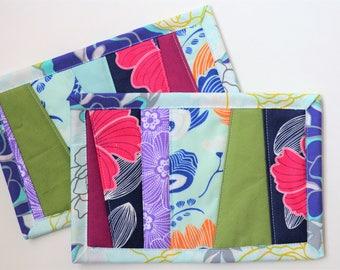 Hibiscus mug rug set