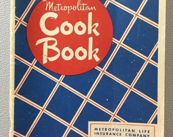 Vintage Metropolitan CookBook Life Insurance Company 1948 Advertising Recipes Cook Book Retro Kitchen Decor Paperback Booklet