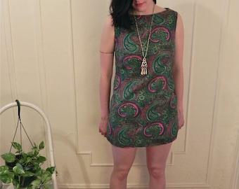 1960's Psychedelic Paisley Mini Dress