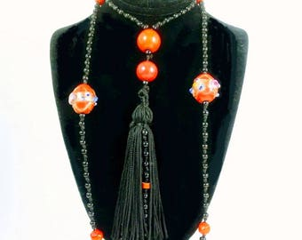 Bead Necklace Art Deco Flapper