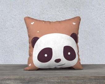 """Panda"" C""pillow decorative cushion cover for children, decoration, bedroom, panda, pillows, cushions design, panda decor cushion,"