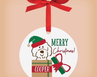 Custom Doodle Ornament, Personalized Dog Christmas Ornament, Goldendoodle, Labradoodle, personalized gift for pet lovers, friends, family