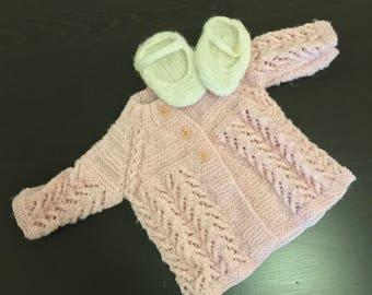 Handknit Winter baby sweater