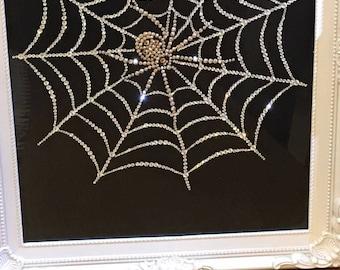 Swarovski Spider in Web